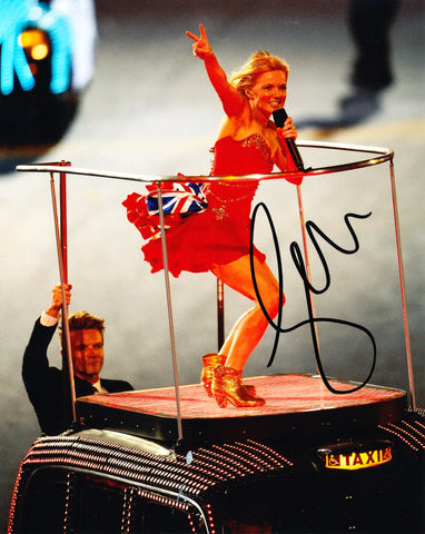 GERI HALLIWELL SIGNED SPICE GIRLS 8X10 PHOTO 3