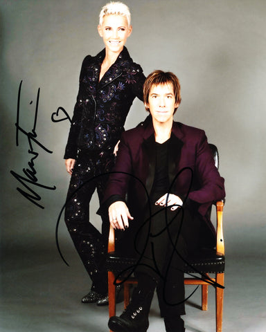 ROXETTE SIGNED 8X10 PHOTO