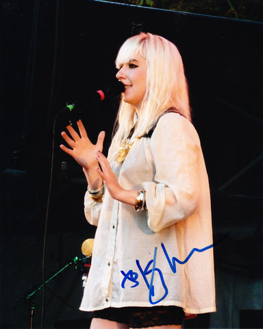 KATIE STELMANIS SIGNED AUSTRA BAND 8X10 PHOTO
