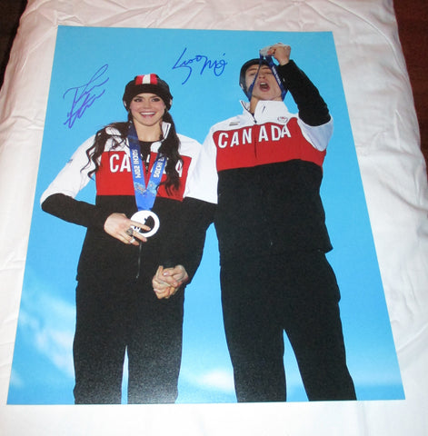 TESSA VIRTUE & SCOTT MOIR SIGNED 2014 OLYMPIC FIGURE SKATING 11X14 PHOTO