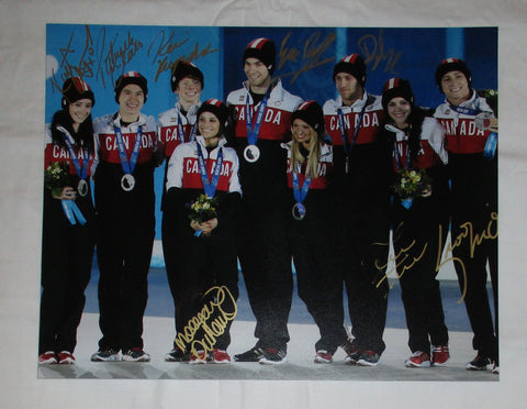 2014 CANADIAN OLYMPIC FIGURE SKATING TEAM SIGNED 11X14 PHOTO