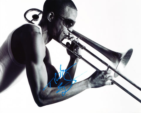 TROMBONE SHORTY SIGNED 8X10 PHOTO TROY MICHAEL ANDREWS 2