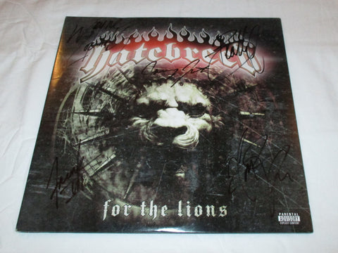 HATEBREED SIGNED FOR THE LIONS VINYL RECORD