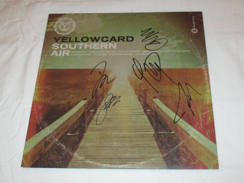 YELLOWCARD SIGNED SOUTHERN AIR VINYL RECORD