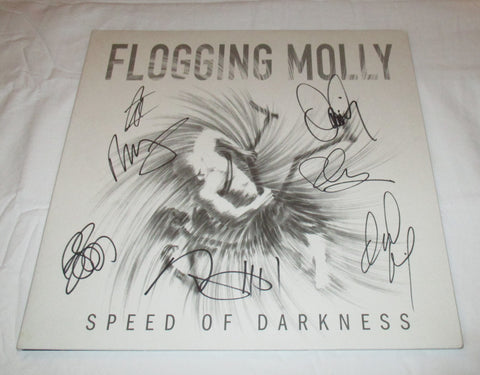 FLOGGING MOLLY SIGNED SPEED OF DARKNESS VINYL RECORD