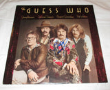 BURTON CUMMINGS SIGNED THE GUESS WHO POWER IN THE MUSIC VINYL RECORD
