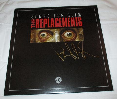 PAUL WESTERBERG SIGNED THE REPLACEMENTS SONGS FOR SLIM VINYL RECORD