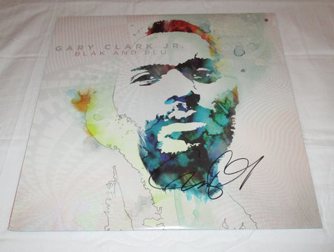 GARY CLARK JR. SIGNED BLAK AND BLU VINYL RECORD