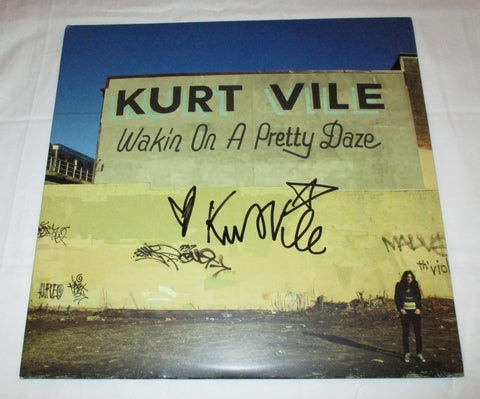 KURT VILE SIGNED WAKIN' ON A PRETTY DAZE VINYL RECORD