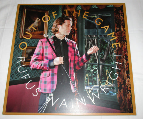 RUFUS WAINWRIGHT SIGNED OUT OF THE GAME VINYL RECORD
