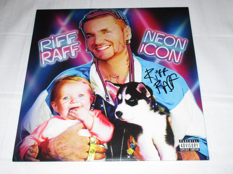 RIFF RAFF SIGNED NEON ICON VINYL RECORD
