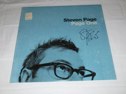 STEVEN PAGE SIGNED PAGE ONE VINYL RECORD