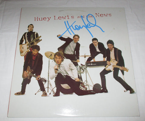 HUEY LEWIS SIGNED HUEY LEWIS AND THE NEWS VINYL RECORD