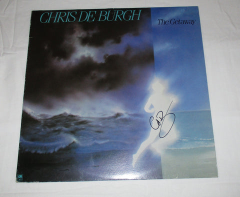 CHRIS DE BURGH SIGNED THE GETAWAY VINYL RECORD