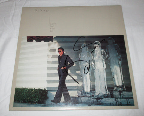 BOZ SCAGGS SIGNED DOWN TWO THEN LEFT VINYL RECORD