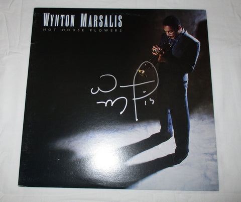 WYNTON MARSALIS SIGNED HOT HOUSE FLOWERS VINYL RECORD