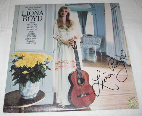 LIONA BOYD SIGNED THE FIRST LADY OF THE GUITAR VINYL RECORD