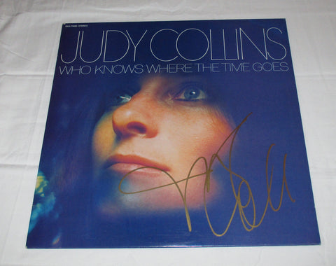JUDY COLLINS SIGNED WHO KNOWS WHERE THE TIME GOES VINYL RECORD