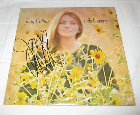 JUDY COLLINS SIGNED WILDFLOWERS VINYL RECORD