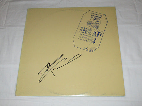 PETE TOWNSHEND SIGNED THE WHO LIVE AT LEEDS VINYL RECORD