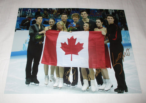 2014 CANADIAN OLYMPIC FIGURE SKATING TEAM SIGNED 11X14 PHOTO 2