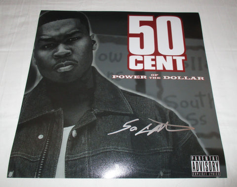 50 CENT SIGNED POWER OF THE DOLLAR 12X12 PHOTO