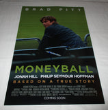 AARON SORKIN SIGNED MONEYBALL 12X18 MOVIE POSTER