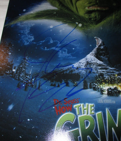 How The Grinch Stole Christmas Movie Poster.Jim Carrey Signed How The Grinch Stole Christmas 12x18 Movie Poster Jsa