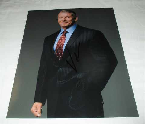 VINCE MCMAHON SIGNED WWE CHAIRMAN 11X14 PHOTO