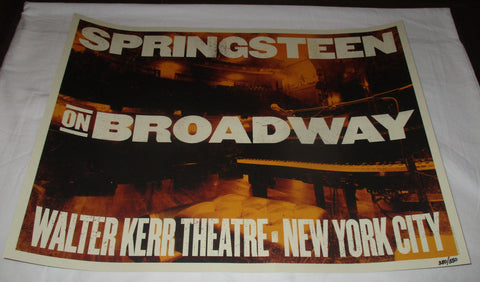 BRUCE SPRINGSTEEN ON BROADWAY LIMITED EDITION POSTER