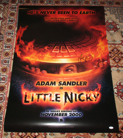 ADAM SANDLER SIGNED LITTLE NICKY FULL SIZE 27X40 MOVIE POSTER JSA