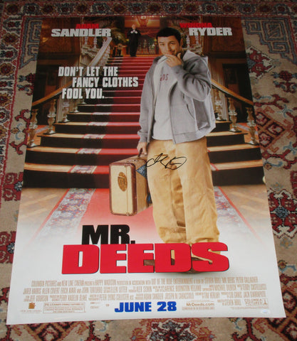 ADAM SANDLER SIGNED MR. DEEDS FULL SIZE 27X40 MOVIE POSTER JSA