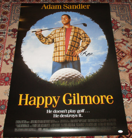 ADAM SANDLER SIGNED HAPPY GILMORE FULL SIZE 27X40 MOVIE POSTER JSA