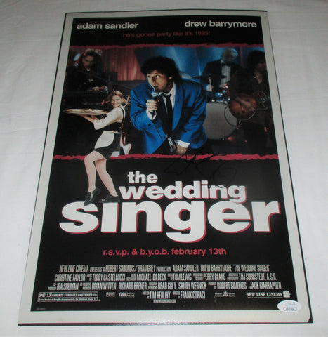ADAM SANDLER SIGNED THE WEDDING SINGER 12X18 MOVIE POSTER JSA