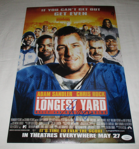ADAM SANDLER SIGNED THE LONGEST YARD 12X18 MOVIE POSTER JSA