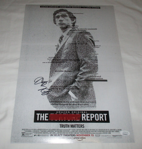 ADAM DRIVER SIGNED THE REPORT 12X18 MOVIE POSTER JSA