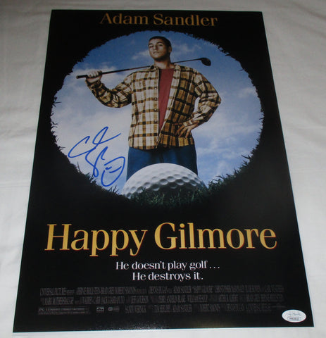 ADAM SANDLER SIGNED HAPPY GILMORE 12X18 MOVIE POSTER JSA