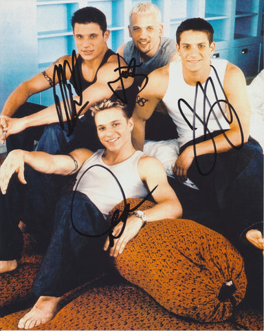 98 DEGREES SIGNED 8X10 PHOTO 98° 2