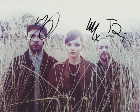 CHVRCHES SIGNED 8X10 PHOTO