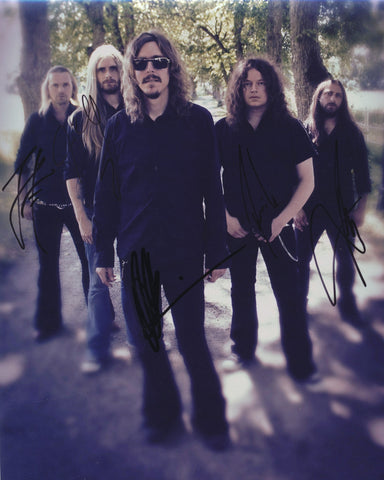 OPETH SIGNED 8X10 PHOTO