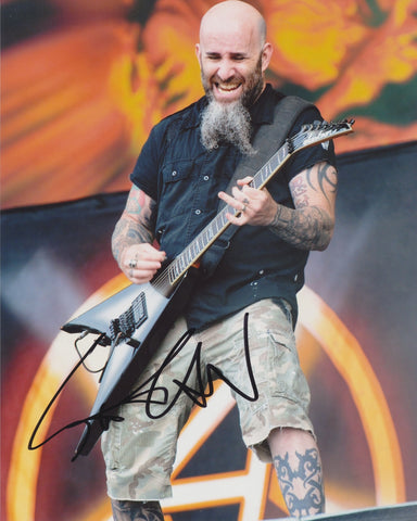 SCOTT IAN SIGNED ANTHRAX 8X10 PHOTO 2