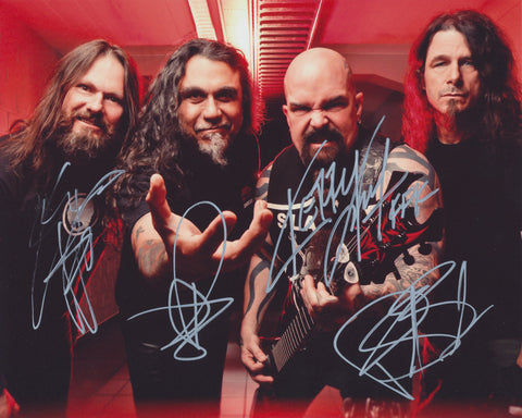 SLAYER SIGNED 8X10 PHOTO