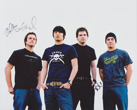 THRICE SIGNED 8X10 PHOTO