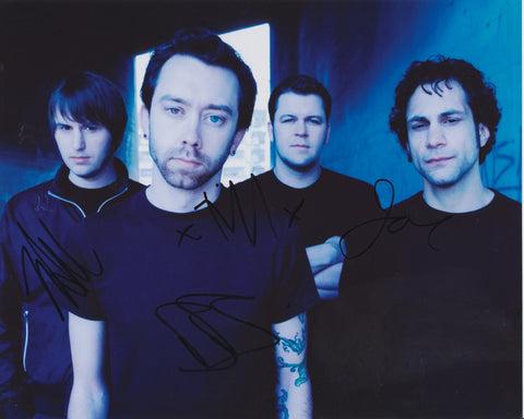 RISE AGAINST SIGNED 8X10 PHOTO