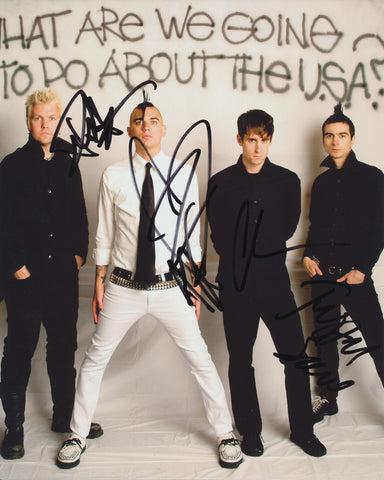 ANTI-FLAG SIGNED 8X10 PHOTO 2