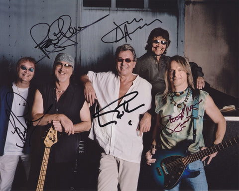 DEEP PURPLE SIGNED 8X10 PHOTO