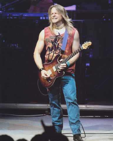 STEVE MORSE SIGNED DEEP PURPLE 8X10 PHOTO