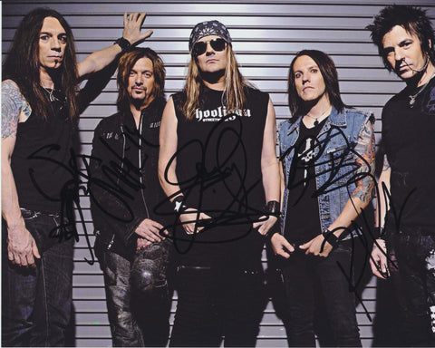 SKID ROW SIGNED 8X10 PHOTO