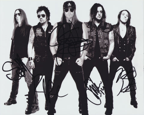 SKID ROW SIGNED 8X10 PHOTO 2