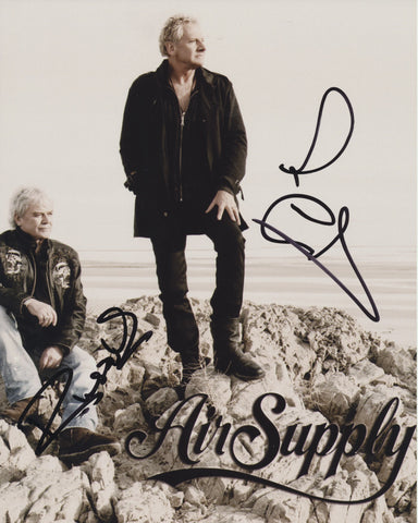 AIR SUPPLY SIGNED 8X10 PHOTO